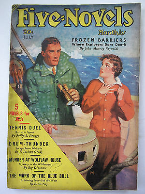 U.S.A. Pulp Magazine - FIVE NOVELS MONTHLY July, 1936