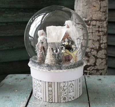 CODY FOSTER Lovely Vintage-Style ~SILVER HOUSE GLOBE CANDY BOX~ New & Unused!