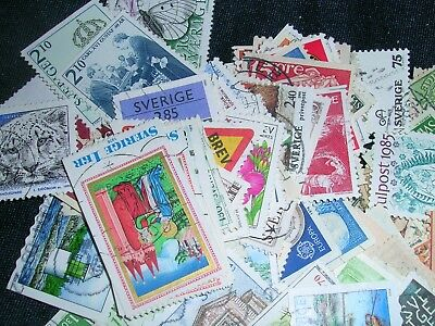 Sweden Postage Stamps over 100 stamps mixed  great condition