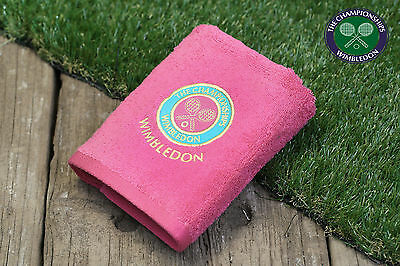 GENUINE OFFICIAL WIMBLEDON CHAMPIONSHIPS TENNIS GUEST GYM TOWEL PINK 2016 final