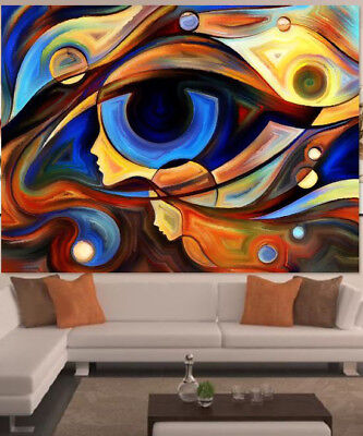 ABSTRACT COLORFUL LOVELY SCENERY-  WALL DECOR Pictures Canvas choose your size