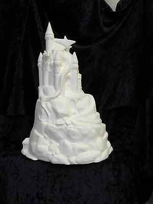 Ceramic Bisque Ready to Paint Dragon Castle Mountain