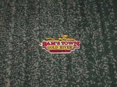 Vintage Sam's Town Gold River Hotel & Gambling Hall Casino Nevada Keychain, GUC