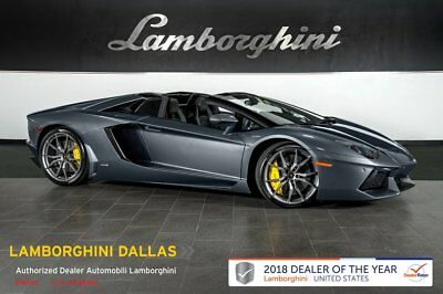 2014 Lamborghini Aventador Roadster  NAV+RR CAM+GRAY DIONE WHEELS+PARK ASSIST+POWER/HEATED SEATS+TRANSPARENT ENGINE