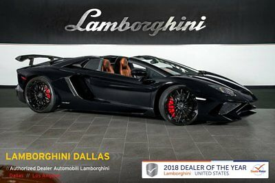 2017 Lamborghini Aventador SV Roadster  CUSTOM SV ROADSTER+POLISHED CARBON+REAR CM+MAG SUSPENSION+PREMIUM SOUND