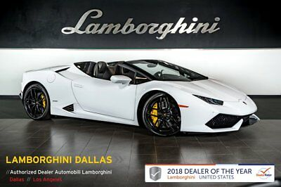 2017 Lamborghini Huracan Spyder  CERTIFIED!+303K MSRP+NAV+RR CAM+CCB+LIFT SYS+SPORT EXHAUST+CRUISE CONTROL