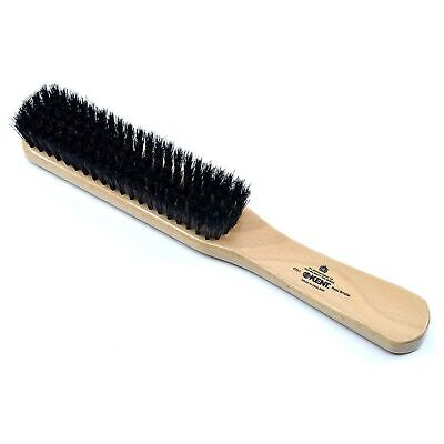 Kent CG1 Handcrafted Clothes Brush, Black Bristle, Made from Cherrywood