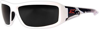 Edge Brazeau Safety Glasses with White Patriot2 Frame and Smoke Lens