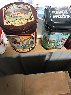 Tins - Assortment - Nestle, Log Cabin, Campbell's, Coca Cola, Hershey, More