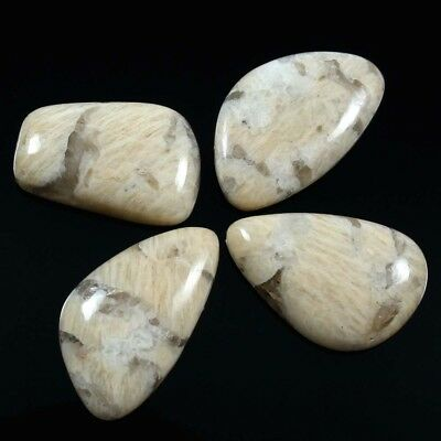 71.55 cts Natural Graphic Feldspar Gemstone Fancy Cabochon 4 Pcs Wholesale Lot