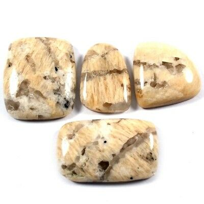 89.90cts 100% Natural Graphic Feldspar Gemstone Mix Cabochon 4 Pcs Wholesale Lot