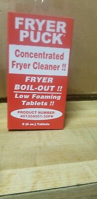 (5-Pack) Commercial Restaurant 4 oz. Deep Fat Fryer Cleaner Cleaning Tablets
