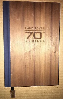 Nice Wood grain Land Rover 70TH Jubilee Lined Notebook Log Book Journal Diary