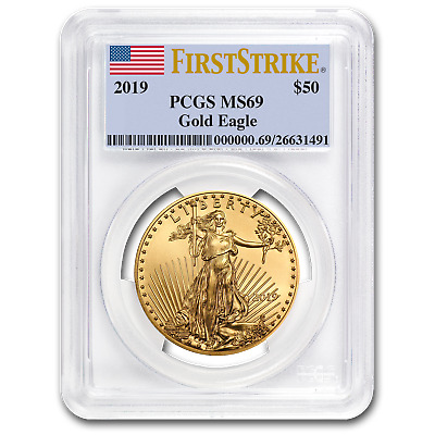 2019 1 oz Gold American Eagle MS-69 PCGS (First Strike) - SKU#171463