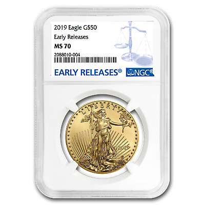 2019 1 oz Gold American Eagle MS-70 NGC (Early Releases) - SKU#171546