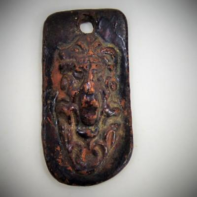 THAI  AMULET red CLAY early example