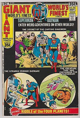 World's Finest #206 with Superman & Batman, Very Fine Condition