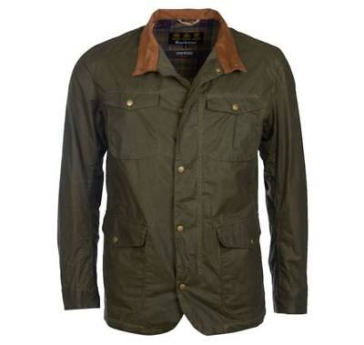 BARBOUR Lightweight OGSTON Waxed Cotton Jacket, Size S, Olive, Lightly Worn