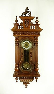 Gorgeous Keyhole Wall Clock German             New Case / Old Movement