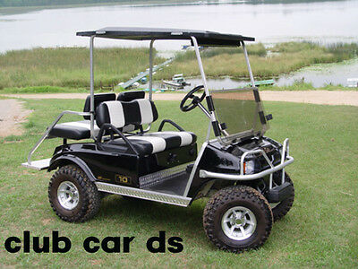 Club Car ds Golf Cart Diamond Plate Rocker panel Inserts & Kick plate 3 pc kit