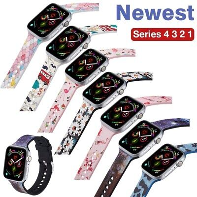 Cute Silicone TPU Band Sport Loop for Apple iWatch Series 4/3/2/1 38/42/40/44mm