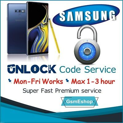 SAMSUNG UNLOCK CODE S9 S8 S7 S6,Edge Note 4,5,8,9  EE O2 Vodafone 3 UK