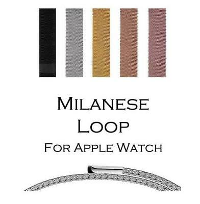 Milanese Strap Apple Watch to fit Series 4 3 2 Magnetic Stainless Steel Mesh