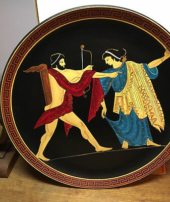 Greek Museum Replica Display Plate By Spyropoulos Hand Made In Greece 2 Of 30