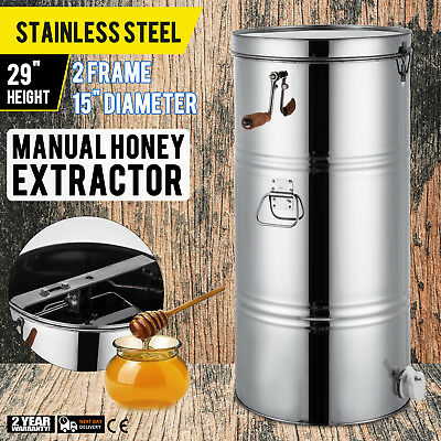 2 Frame Honey Extractor Manual With Cover Honey Outlet Stainless Steel