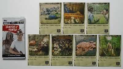 Topps The Walking Dead Hunters & The Hunted How To Take Down A Walker Insert Set