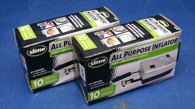 Lot of 2 -Slime All Purpose Inflator Tires/Inflatables/Balls 40019
