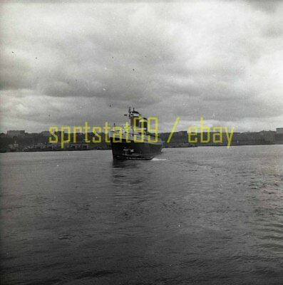 SS United States and Tug Boat - US Lines - Vintage Negative c1950s