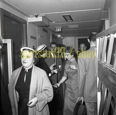SS United States - Interior Views Passengers - Vintage Negative c1950s 11034