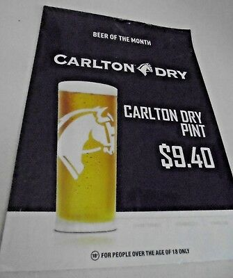 Beer Poster and Beer advertising stands 10 Carlton Dry Beer Poster and 20 stands
