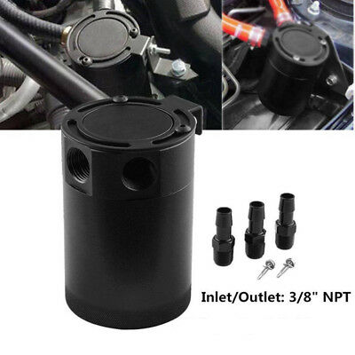 Professional Racing Car Baffled 3-port Oil Catch Can/Tank/Air-Oil Separator 2019