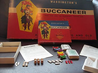 Vintage 1950s Buccaneer Waddingtons Board Game Set - Replacement Spare Parts