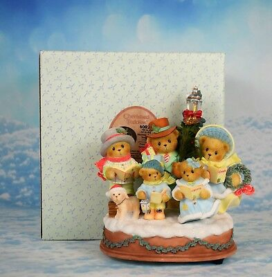 "2005 L/E 5000 Cherished Teddies Musical Christmas figurine ""Silent Night Tune"""