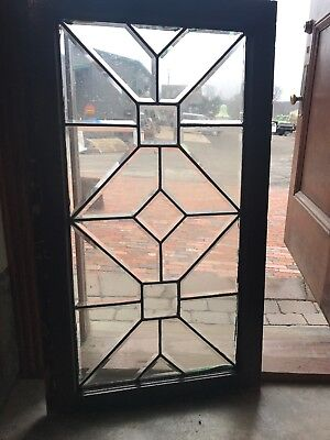Sg 2694 Antique All Beveled Glass Window 23.25 X 40.75