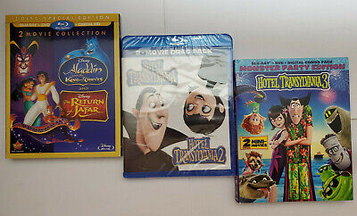 Return of Jafar/Aladdin King Thieves/Hotel Transylvania 3 Blu-ray+Slip No Digitl