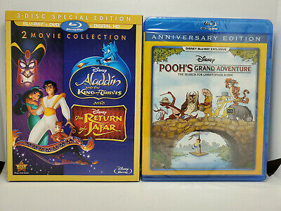 Return of Jafar/Aladdin King of Thieves (Blu-ray+Slip No Digital)+Justice League