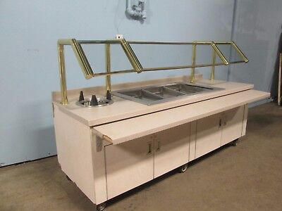 """H.d. Commercial Refrigerated 93""""w Cold Food Buffet / Salad Bar / Dessert Table"""
