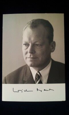 WILLY BRANDT german chancelor autograph Autogramm Bundeskanzler Helmut Kohl Bahr