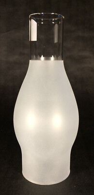 "2 5/8"" X 7 1/2"" Frosted Glass Oil Lamp Chimney for Rayo Central Draft Burner 923"