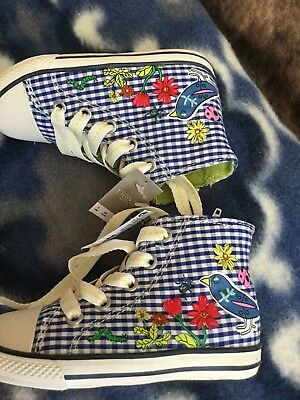 Girls Next Size 7 Infant 24 Eur Trainers Hi Tops Shoes Brand New With Tags