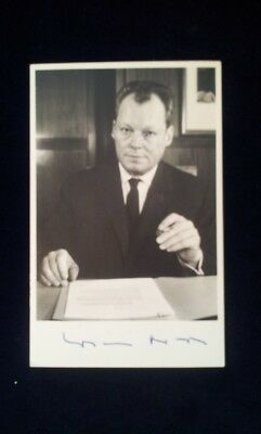 WILLY BRANDT german chancelor autograph Autogramm Bundeskanzler Helmut K 1000941
