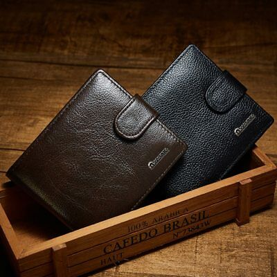 Luxury Brand Men Wallets Cow Leather Genuine Zipper Purse Coin Pocket Vintage