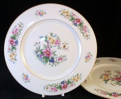 Lenox AVON 2 Dinner Plates Gold Backstamp S300 GREAT CONDITION