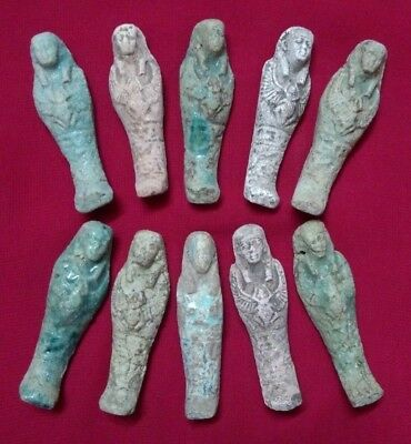 Ancient Egyptian Antiquities rare 10 Amulets ( 1816 BC)