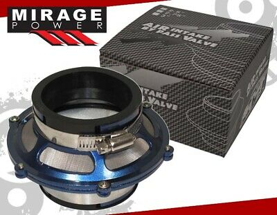 "3"" Cold Air Intake Max Flow Engine Bypass Valve Filter + Clamp Blue Rx8 Protege"