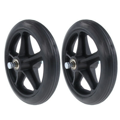 2x Wheelchair Front Castor Wheels Replacement Part Black 7 inch 5/16 Bearing